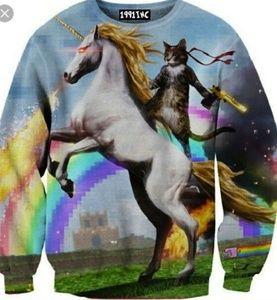 Unicorn Cat Ninja Sweater